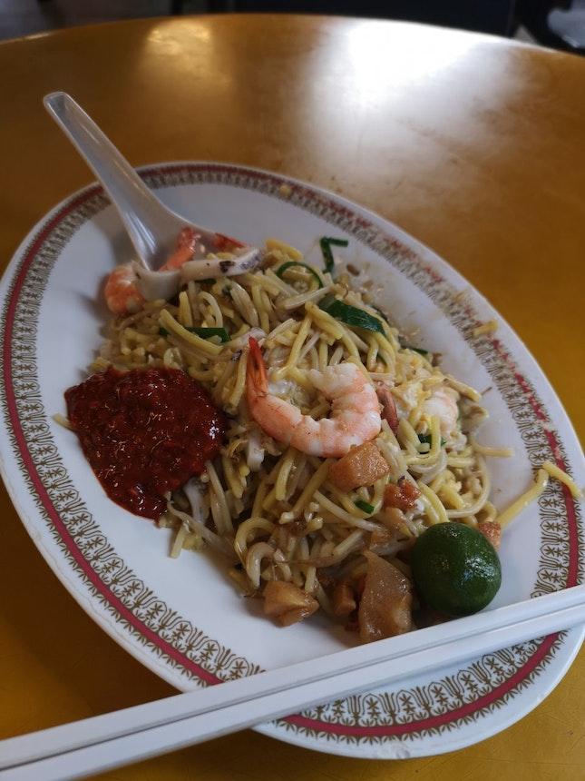 Famous Fried Hokkien Prawn Mee