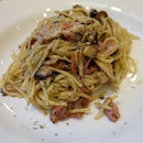 Bacon Aglio Olio With Mushroom