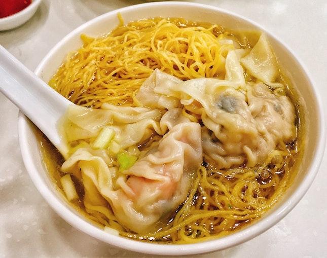 Shrimp Dumplings Noodles (HK$32)