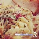 Cabonara fettucine #pasta #cabonara #coffeebean #umakemehungry #makanhunt #dinner #meal
