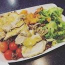 Chicken Salad with Honey Mustard & Vinaigrette .