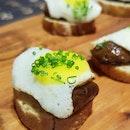 Quail Egg With Chorizo On Toast