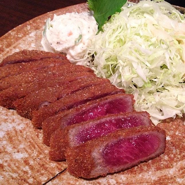 Gyukatsu @ Gyukatsu Motomura, Shibuya, Japan