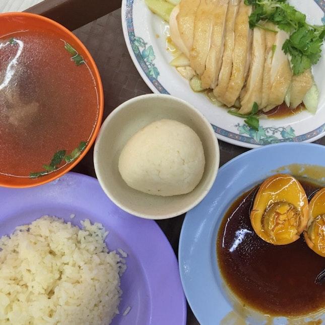 Chicken Rice + Rice Ball ($4.70)