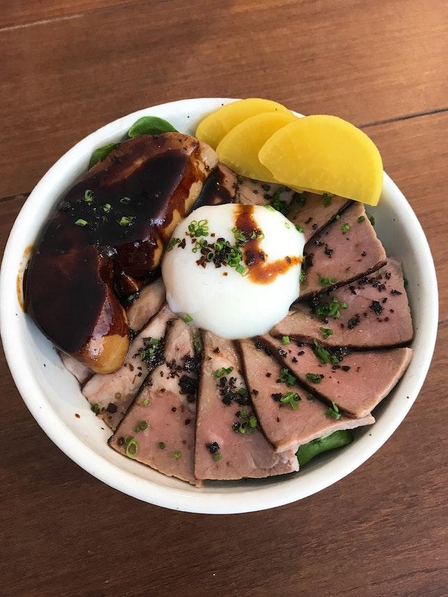 Pan Seared Foie Gras Beef Yakiniku ($19.00)