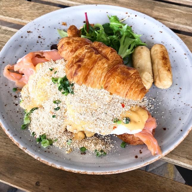 Salted Egg Croissant ($16.90)