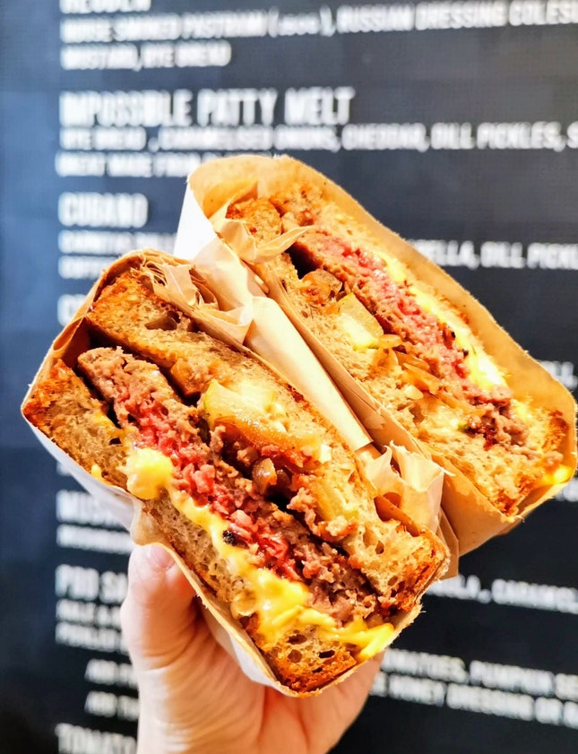 Impossible Patty Melt ($22+)