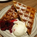 Waffle With Ice Cream