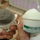 Black sesame and milk, which one you want to lick?