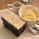Chocolate Stout Cake ($9) + Vanilla Ice Cream ($3)