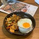 Stir-fried Thai Curry Pork Rice ($7.90)