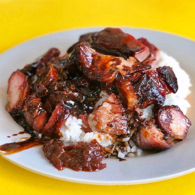 Char Siew & Pork Ribs Rice ($4)