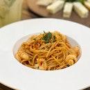 Dynamite Spicy Spaghetti Aglio Olio ($20)