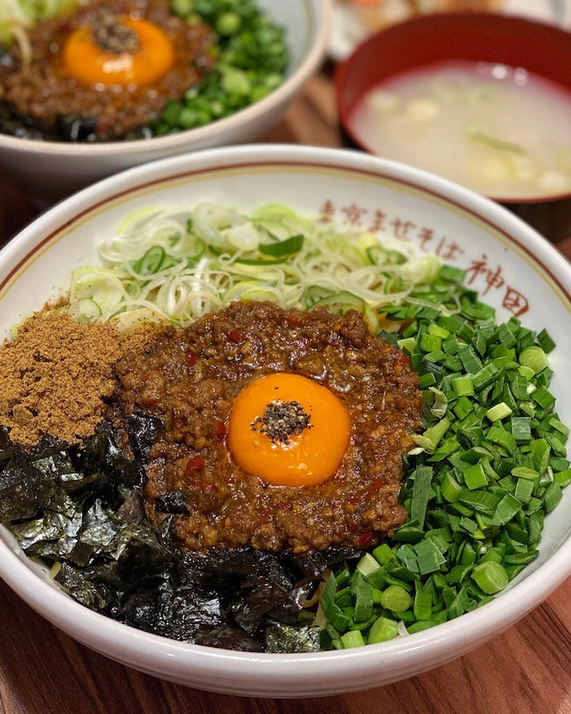 Are you a fan of Mazesoba? If you are, you should check out Kanda Soba at Clarke Quay's Don Don Donki dine-in foodcourt.