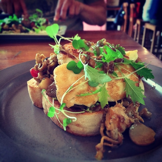 It's Baaaaaaaaack! The Haloumi and Mushrooms ($22++)