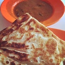 Crispy, flaky prata that's surprisingly flavourful even without the curry.