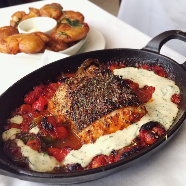 Braised Garoupa (The Market Fish: $68++)