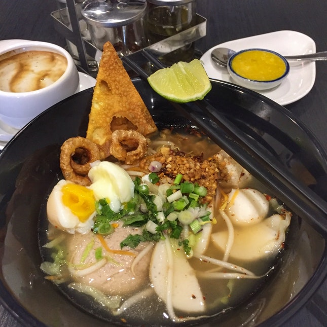 Spicy Thai Thai Soup Noodles (Lunch Set $6.90)