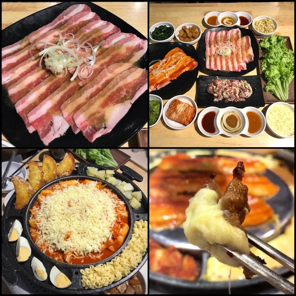 Cheese Mandu Tteokbokki + Three BBQ Meats Set For 2 ($69++ inclusive of free flow of barley tea)