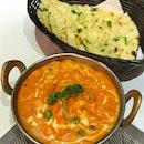 Navarathan Masala ($14.80++) and Garlic Naan ($3.50++)