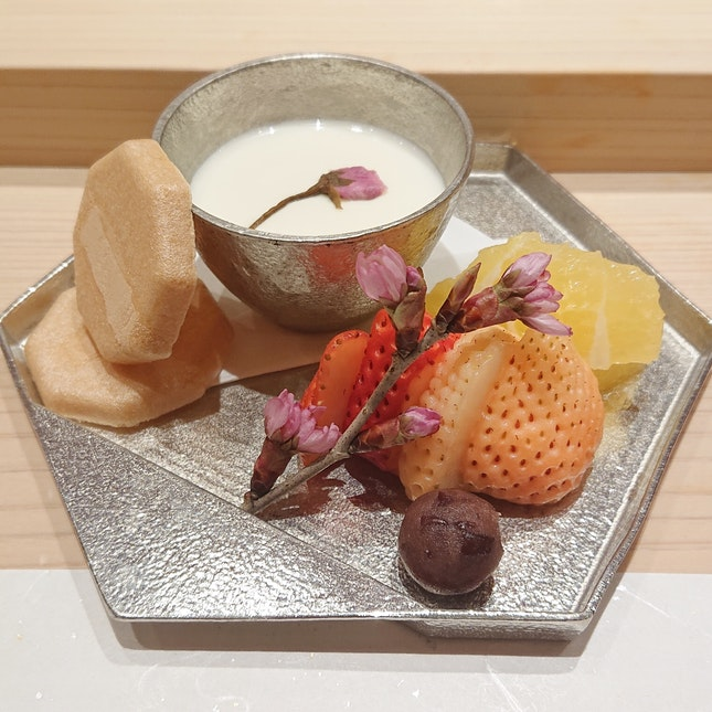 Seasonal Dessert That Closed My Omakase Meal ($250++)