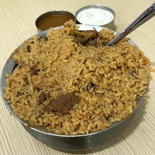 """JK Special Mutton Briyani"""" ($15)"""