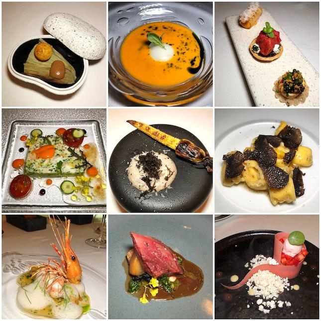 Summer Tasting Menu (8 courses: $155++ per person)