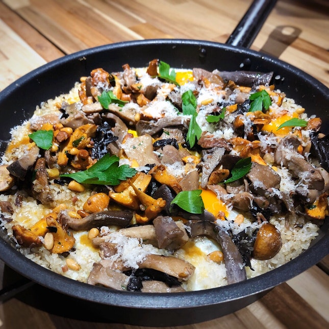 The Wild Mushroom Rice - Part of the Pop-up Collab Menu between Head Chef Sato Hideaki of Ta Vie Hongkong & Team Magic Square ($228++ per pax)