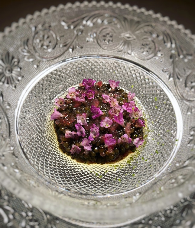 Red Deer Tartare With Caviar (Part Of The $450++ Tasting Menu)