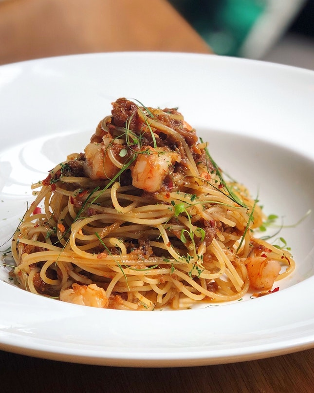 """Hae Bee Hiam Spaghettini"" ($17.80++)"