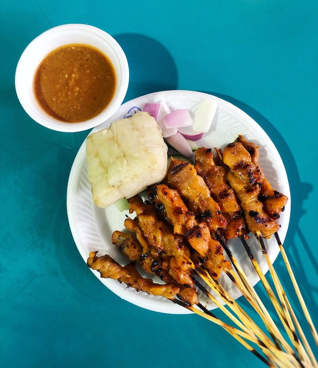 "For Good Satay And BBQ Wings, ""Chong Pang"" (stall #01-05) Will Not Disappoint."