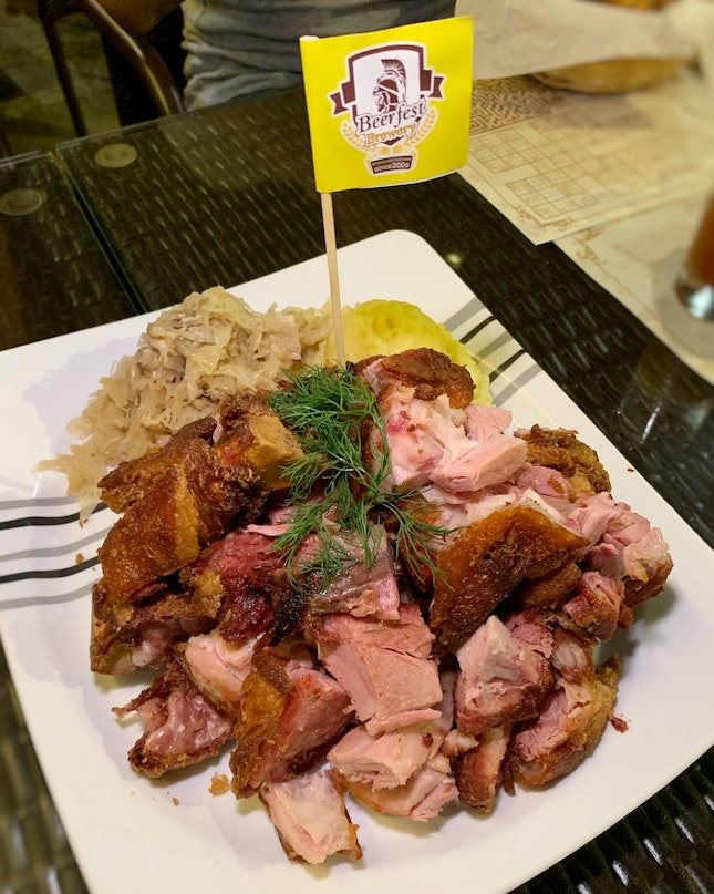 The Crispy German Pork Knuckle Here Beats The One At The Popular German Beer Chain Place ($38++)