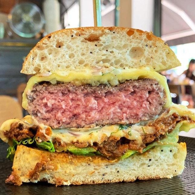The NEW Firebake Wagyu Cheeseburger ($18++)