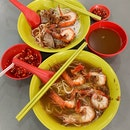 Prawn Noodles That Is Singularly Potent In Prawn Flavour.