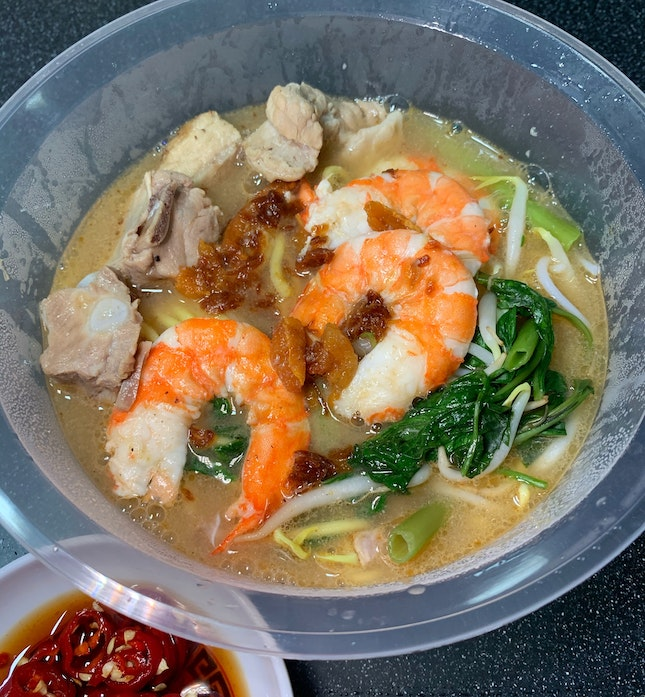 Never Have I Ever... gotten my favouritest prawn noodles as a takeaway until yesterday!
