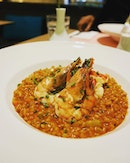 Super crunchy textures from this lobster barley risotto which was eaten at the @themarmaladepantry