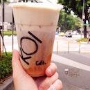五十嵐紅茶瑪奇朵。Koi's Black Tea Macchiato.