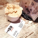 plus39 Gelato, this is a hazelnut single scoop ($5.50).