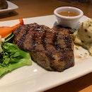 Ribeye Steak With Drink