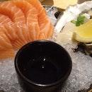 Oyster And Salmon Sashimi