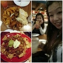 Friday night with this girl, endless talk with too much food!