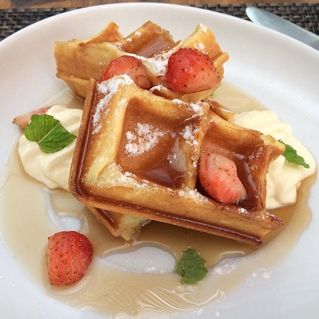 Mmmm waffles for breakfast.