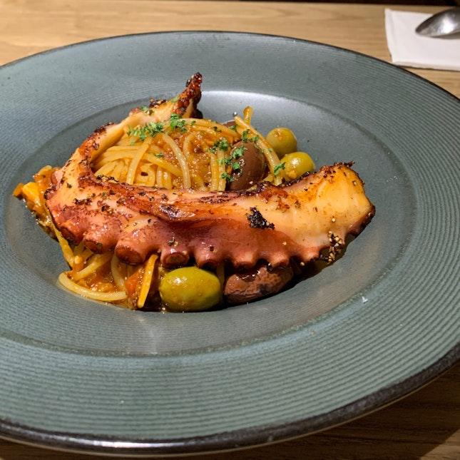 Braised Octopus Pasta ($29++)