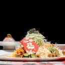 AUSPICIOUS TIDINGS HAMACHI YUSHENG 翡翠金猪迎丰年捞起 •SGD 128 for large/SGD 88 for small• • Toss to a great year and good fortune with the new Auspicious tidings Hamachi yusheng 翡翠金猪迎丰年捞起 from Crystal Jade, conjured by Group Executive Chef Martin Foo.