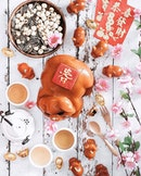Prosperous Piglet Nian Gao •SGD 128.88 NETT• • Welcome the Year of The Pig with exquisitely- crafted Nian Gao piglets to usher in an over-flowing abundance of wealth and longevity.
