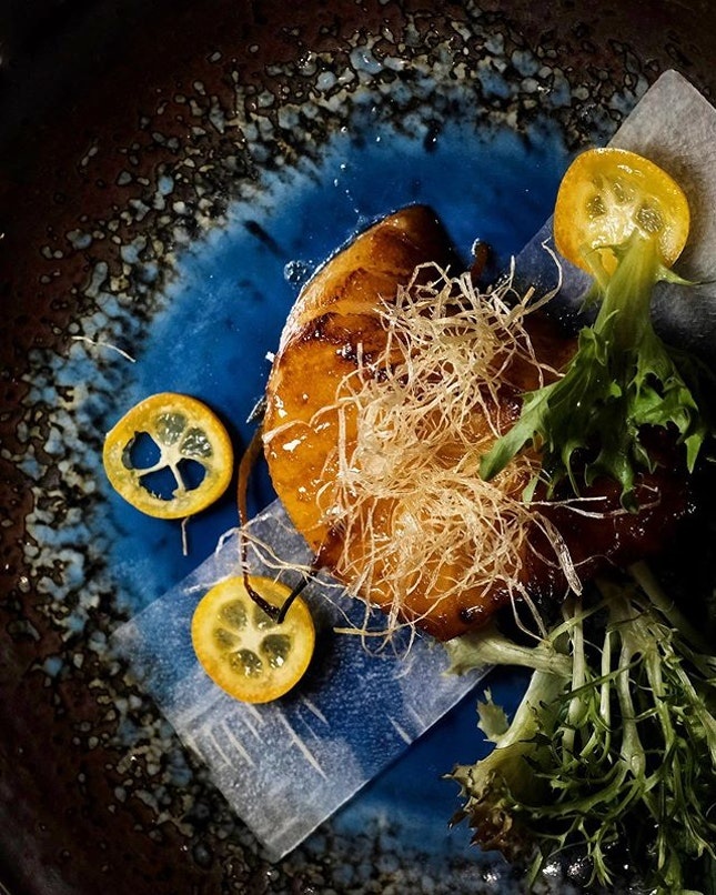 Baked Sea Perch Fillet with Kumquat Chilli Sauce • Fresh sea perch is marinated for up to two hours in a sauce made of sweet Kumquat and Chilli.