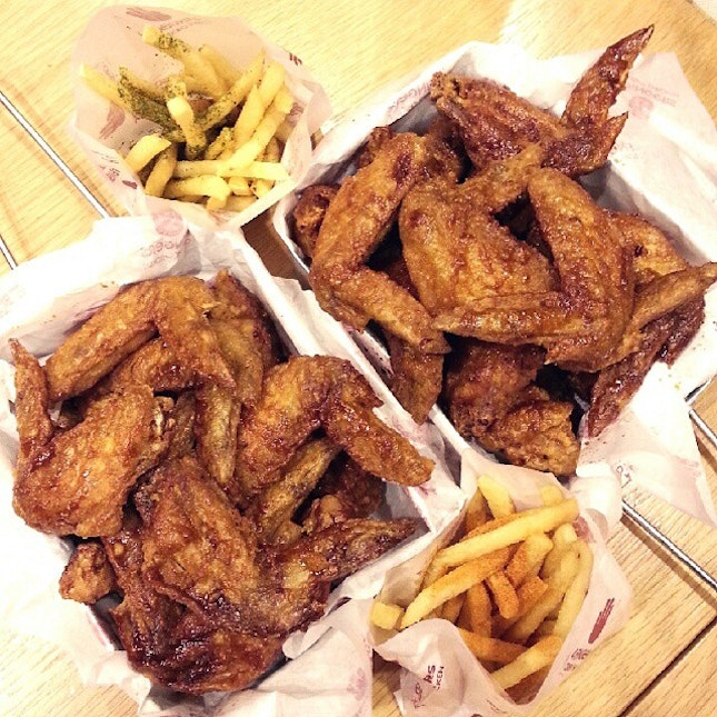 4 Fingers Crispy Chicken for dinner with a bunch of great company yesterday!