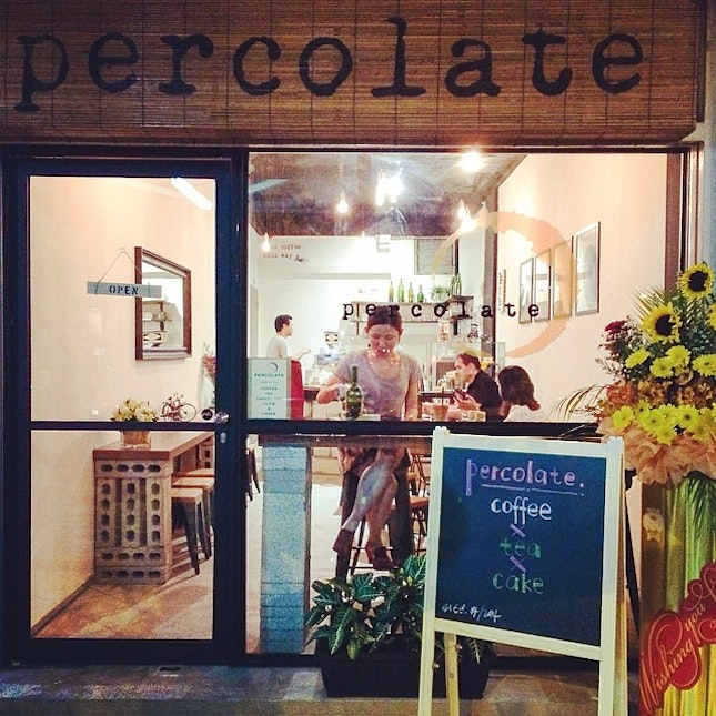 A cosy spot under a Bedok HDB flat which serve coffee , tea & cakes.