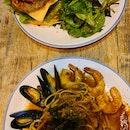Burgers and Pasta At FYR