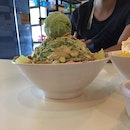 green tea bingsu!!!
